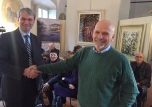 Daniele Zanzi con il sindaco Galimberti