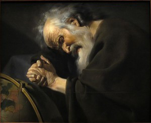 Eraclito in un dipinto di Johannes Moreelse