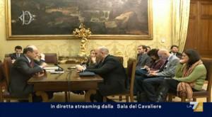La diretta streaming tra Bersani ed il M5S dopo le elezioni 2013