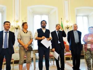 Una conferenza stampa a Palazzo Estense