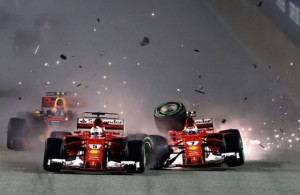 L'incidente tra Vettel, Raikkonen e Verstappen a Singapore