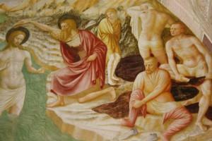 Particolare dal Battesimo di Cristo di Masolino a Castiglione Olona