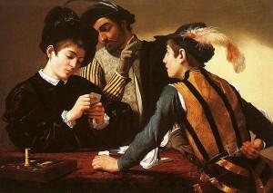 Caravaggio, I bari, 1597 circa