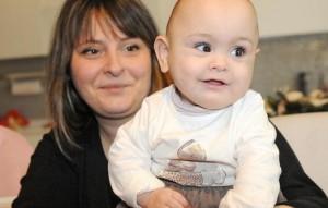 Vanna Pironato con la piccola Amanda