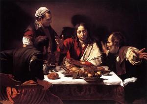 Gesù con i discepoli di Emmaus di Caravaggio