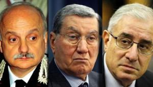 Mori, Mancino e Dell'Utri, imputati al processo Stato-mafia