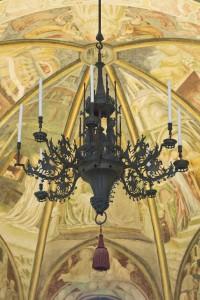 Il candeliere prima del restauro
