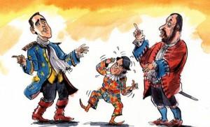 Conte-Arlecchino servo di due padroni (da www.economist.com)