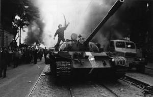 I carriarmati a Praga nell'agosto 1968