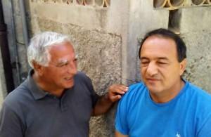 Rocco Cordì con Mimmo Lucano
