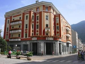 La sede di Sondrio del Credito Valtellinese