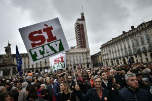 La manifestazione Sì Tav di Torino