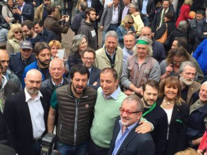 Salvini in piazza Podestà nel 2016