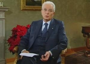 Il presidente Mattarella nel discorso per il nuovo anno
