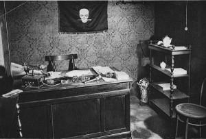 L'ufficio di Mussolini nella prima sede deiFasci Italiani di Combattimento