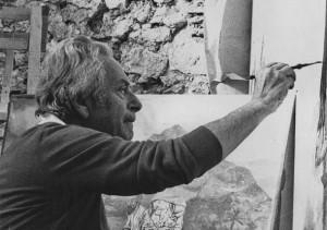 Guttuso dipinge la Fuga in Egitto