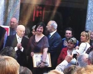 Giovanni Leva, a sinistra, con la moglie Isabella