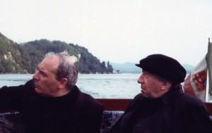 Camisasca e Giussani in gita sul lago Maggiore
