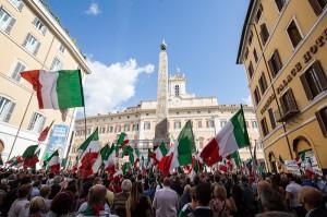 La destra in piazza
