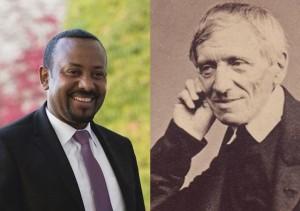 Il premio Nobel per la pace Abiy Ahmed Ali e san John Henry Newman