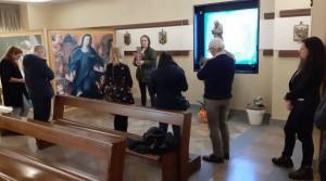 Via Crucis nella cappella Rai a Saxa Rubra (da @donAntonioRai)