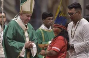 Il Papa incontra i delegati dell'Amazzonia