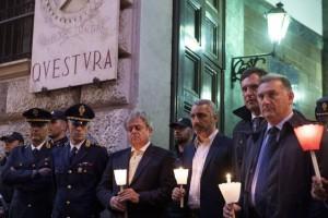 Trieste, commozione per i poliziotti uccisi
