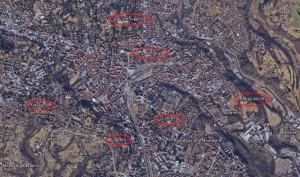 Il centro di Varese ed alcune sue Castellanze