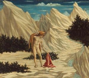Giovanni Battista nel deserto, dipinto di Domenico Veneziano