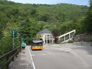 La stazione di partenza della funicolare al Vellone