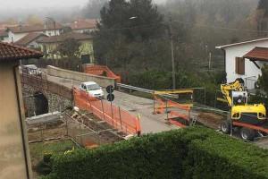 I lavori al ponte di via Giordani