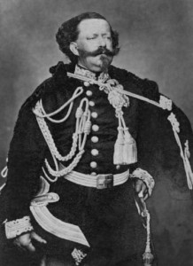 Vittorio Emanuele fotografato da André-Adolphe-Eugène Disdéri nel 1861