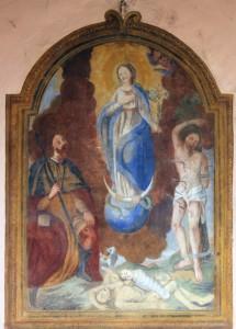 La Madonna con i santi Rocco e Sebastiano, protettori dalla peste