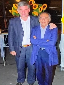 Dino Azzalin con Gregorio Scalise