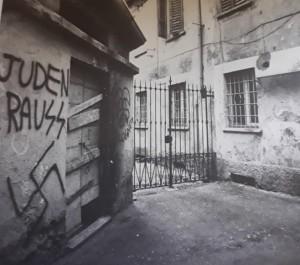 Vicolo Canonichetta a Varese negli anni '80