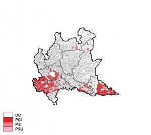 I risultati del voto del 1970 in Lombardia