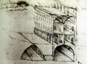 La città ideale su più livelli di Leonardo