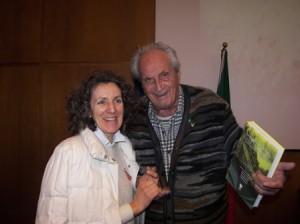 Ottavio Missoni con Rosalba Ferrero