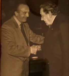 il maestro Francesco Morini, a destra, con Mario Lodi