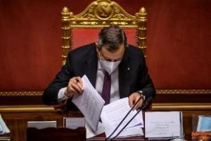 Draghi presenta il Pnrr al Senato