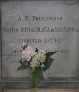 La tomba della Principessa Maria Immacolata di Sassonia al cimitero di Belforte