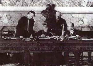 La firma dei patti lateranensi nel 1929