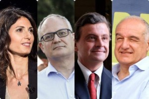 I candidati sindaco a Roma
