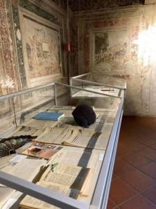 Un angolo della mostra al Castello di Masnago